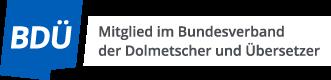 Bundesverband für Dolmetscher und Übersetzer, BDÜ, Logo
